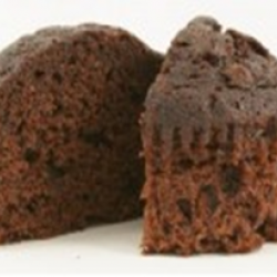 Double choc chip muffin