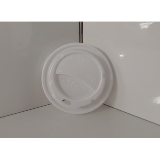Domed white lids 12/16oz