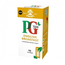 PG tips 6 x 25 English Breakfast Tea Enveloped Bags