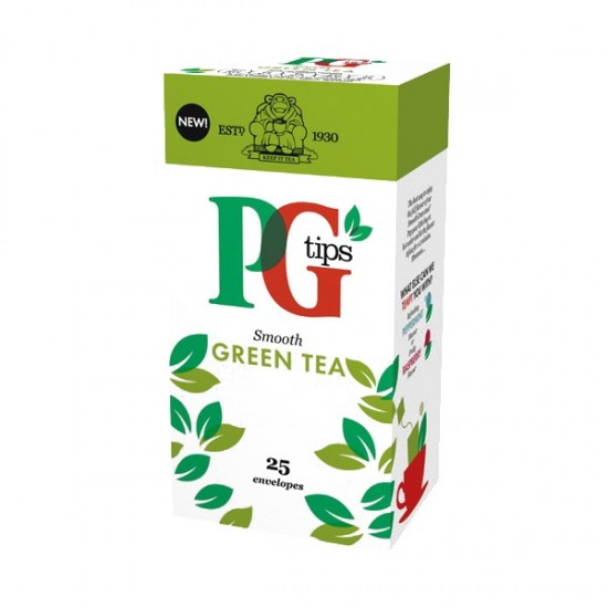 PG tips 6 x 25 Green Tea Enveloped Bags